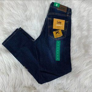 NWT Lee Girls' Straight Fit Comfort Stretch Jeans